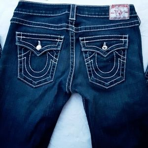 True Religion Becky Disco Big T Bootcut Jeans 28